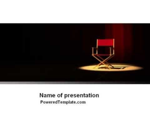 film director powerpoint templatepoweredtemplate - youtube, Presentation templates