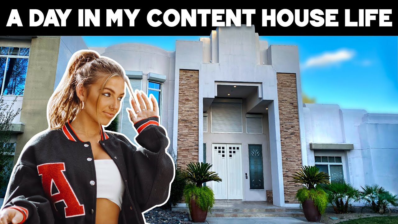DAY IN MY CONTENT HOUSE LIFE (w/ bad pole dancing!!)