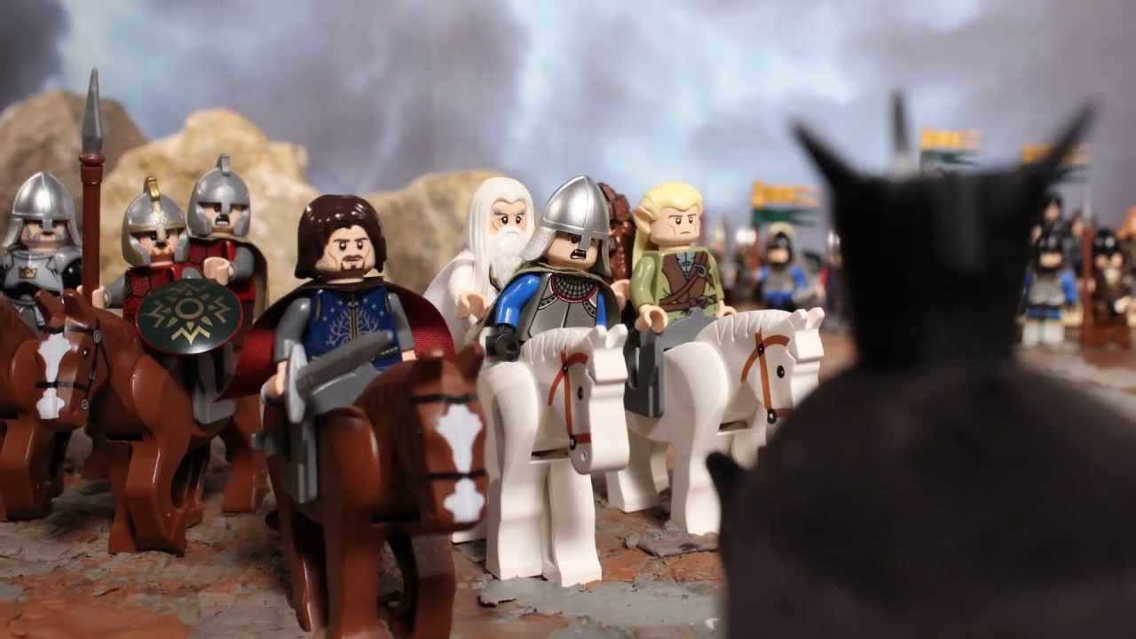 Lego Battle At The Black Gate Youtube