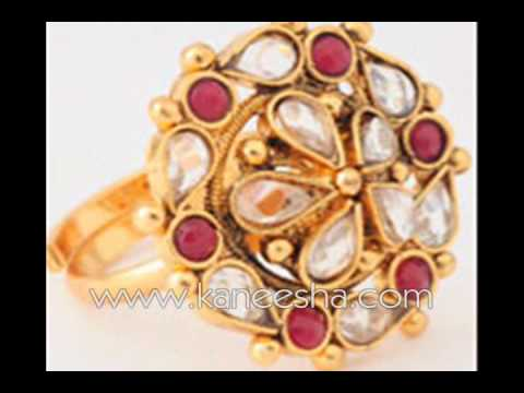 Pearl Fashion Gold Ring Women Costume Rings Jewelry