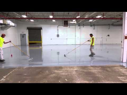 Lakeside Painting Industrial Flooring - Applying 100% Solid Epoxy Flooring