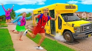 WE BECAME KIDS FOR THE DAY!! (going back to school)