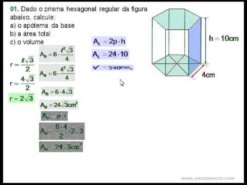 06 Prisma Exerc 237 Cio 01 Prisma De Base Hexagonal Youtube