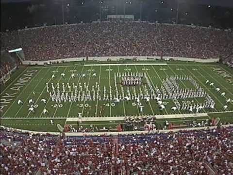 Razorback Marching Band Performs