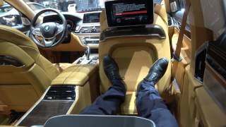 [4k] Seat time Almandin Brown BMW M760Li V12 Excellence, ULTRA COMFORT 1st class M Performance