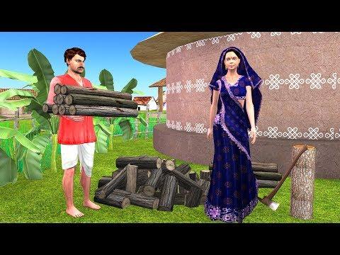 Greedy Wife Moral Story - Hindi Panchatantra Ki Kahaniya for Kids - Cartoon Stories for Kids