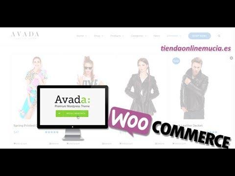 Tienda online woocommerce con AVADA - YouTube