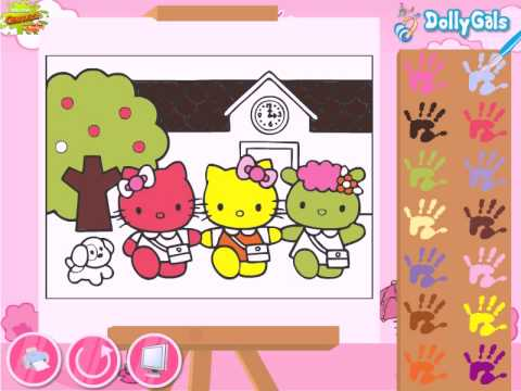hello kitty back to school coloring hello kitty video game