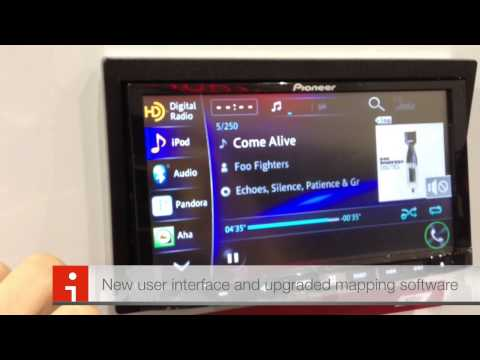CES 2013 Pioneer AVIC-Z150BH Navigation system! Iphone 5 Compatible Bluetooth