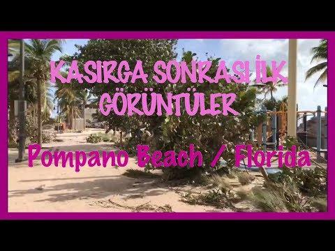 İRMA KASIRGASI SONRASI İLK GÖRÜNTÜLER - POMPANO BEACH, FLORİDA