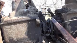 Соединение двух КПП на самодельном тракторе