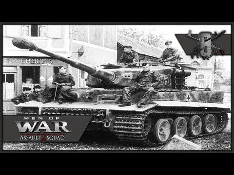 Wittman SS Tiger Platoon vs Allied Tank Division - MoW:AS 2 Robz Mod