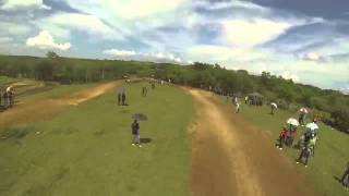 Bobby Piazza and franklin nogueras fight for 1st position Motocross Onboard Gopro Hero3