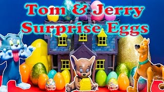 Repeat youtube video TOM AND JERRY Cartoon Network Surprise Eggs Scooby Doo and Tom and Jerry Candy and Toys Video