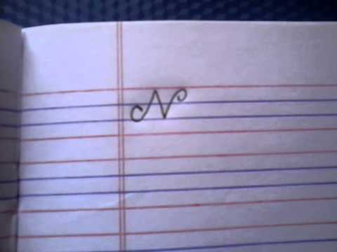 How To Write Capital N In Cursive Writing