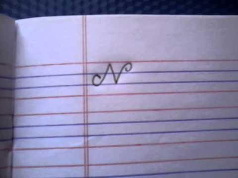 How To Write Capital N In Cursive Writing