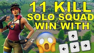 11 KILL WIN WITH ARROW KEYS!!! | NEW BULLSEYE SKIN GAMEPLAY | Fortnite Battle Royale!!