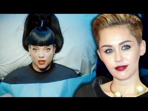 "Lily Allen ""Miley Is A Bitch, She's My Hero"" & ""Hard Out Here"" Music Video Controversy"