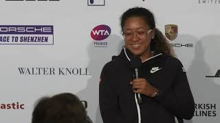 Interview Naomi Osaka (JPN) Semifinals – Porsche Tennis Grand Prix 2018