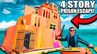 4 STORY Floating BOX FORT Prison ESCAPE Prank! 50FT TALL SCARY