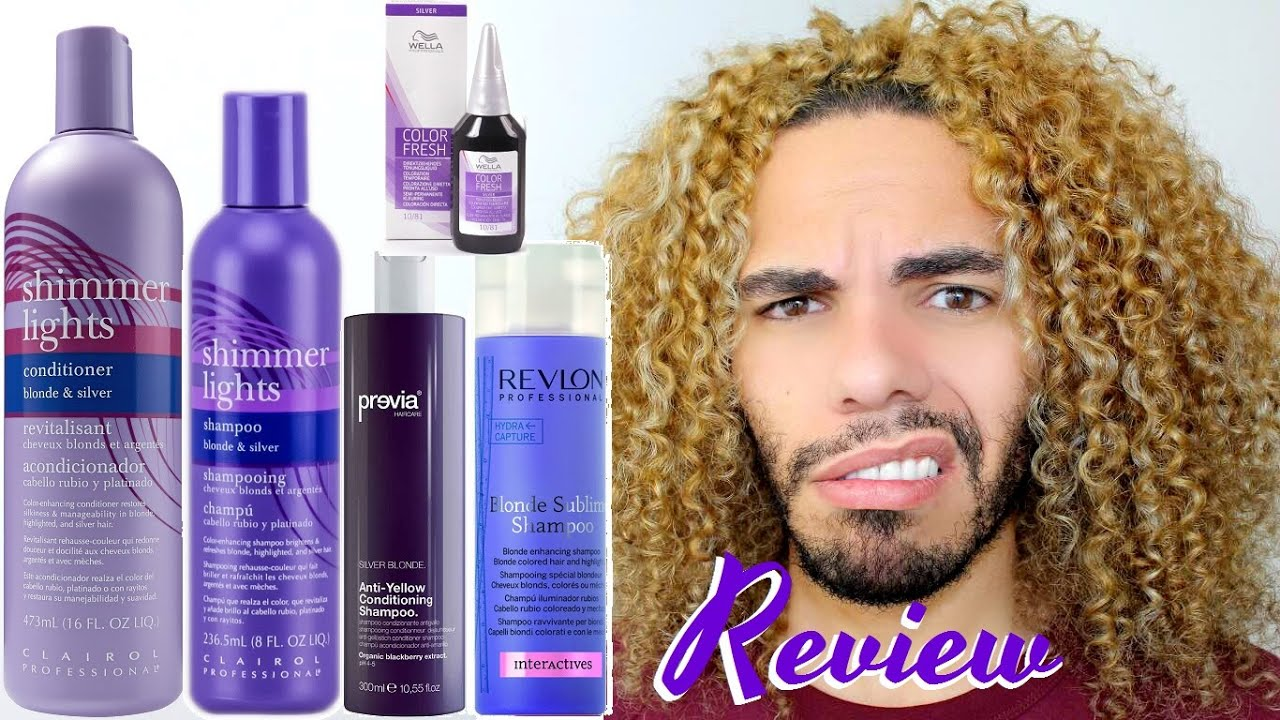 Which Purple Blue Shampoo And Toner Works Clairol Shimmer Lights Joico Color Balance Wella You