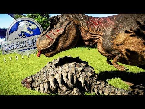 EL ULTIMO TIRANOSAURUS REX DEL PARQUE DE DINOSAURIOS JURASSIC WORLD Evolution ABlistering