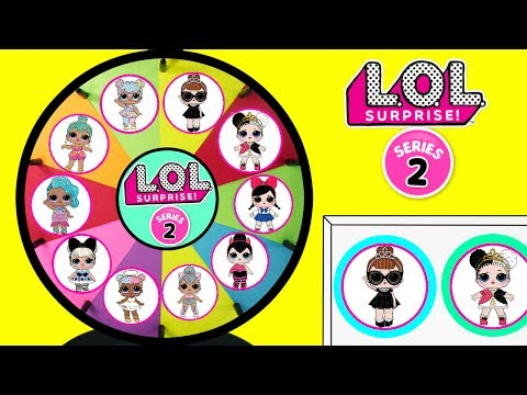 LOL SURPRISE SERIES 2 Toys Spinning Wheel Game | Lil Outrageous Littles Baby Dolls Spit Pee Cry