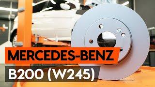 Montering Bremseskiver bak og foran MERCEDES-BENZ B-CLASS (W245): gratis video