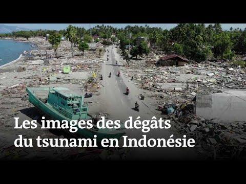 Les dégâts du tsunami en Indonésie