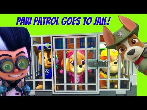 PJ Masks Romeo Sends Paw Patrol to Jail! Tracker the Jungle Pups Tries to Save Them!