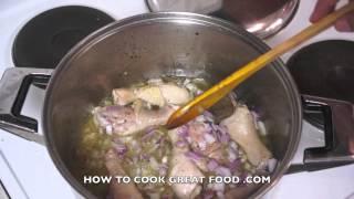Chicken in White Wine & Tomato Sauce Recipe - Drumsticks