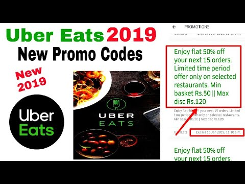Uber Eats 2019 New Promo Codes 50% Off For New And Old Users | Uber Eats  2019 Promo Codes