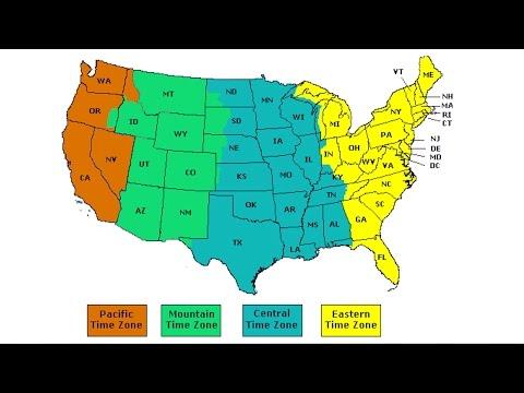 Часовые пояса в США, переход на летнее время