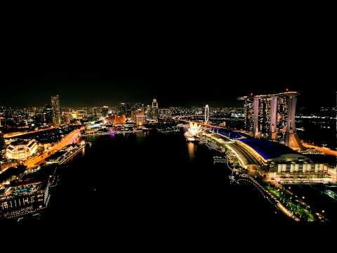 Singapore time-lapse: Marina Bay area, by night [HD]