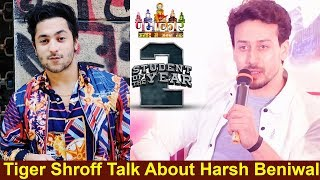 Tiger Shroff Talk About Harsh Beniwal 🔥🔥🔥Student of the Year 2 Film Promotion in Delhi || #NGW