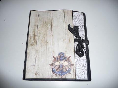 "album scrapbooking ""porte-folio"" thėme maritime"