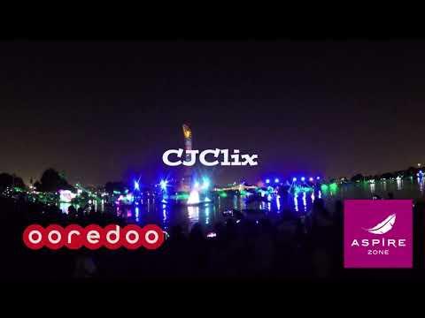 Qatar, Doha, Aspire Zone - Festival at the lake.