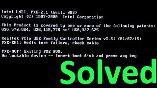 How to Fix Media test failure, Check cable | No Bootable Device (Complete Tutorial)