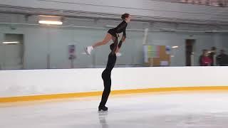 Первенство России в парном катании танц Парное катание KMC Произвольная программа 1 Ю АРТЕМЬЕВА