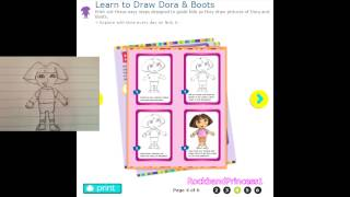 Dora The Explorer Drawing Games - How To Draw Dora The Explorer