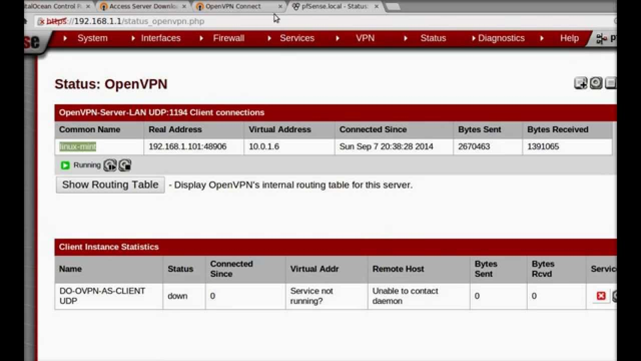 Connecting pfSense as OpenVPN Client to Another OpenVPN Server