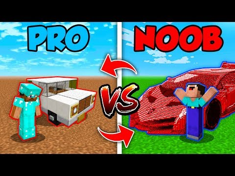 Minecraft NOOB vs. PRO : SWAPPED CAR LIFE in Minecraft (Comp