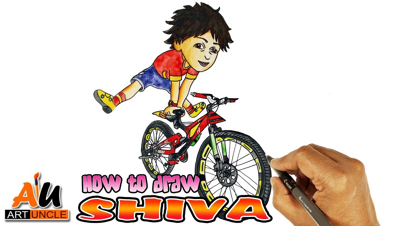 How To Draw Shiva Cartoon Drawing Easy Step By Step