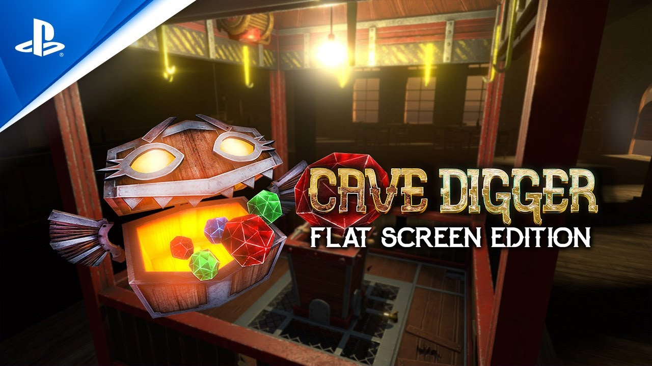 Cave Digger Flat Screen Edition - Launch Trailer | PS4