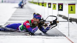 Биатлон Чемпионат России 2021 Гонка преследования Женщины