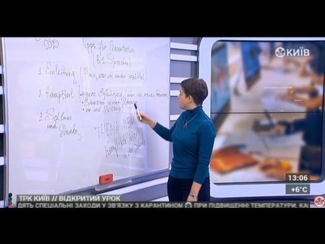 11 клас. Німецька мова. Präsentation in der B1 prüfung teil sprechen