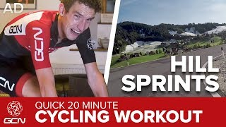 20 Minute Indoor Cycling Training | Hill Sprints on the Passo Campolongo