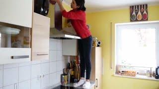 تنظيف المطبخ العميق مع حيل لدوام نظافته😉😉وكيف تنقدين يديك من الجفاف بعد الشغل الكثير 👍👍