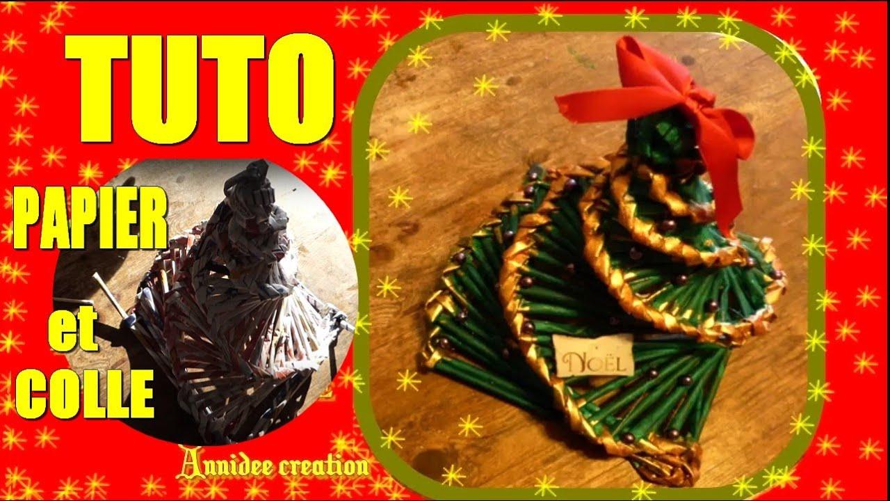 Top TUTO joli sapin de Noël en papier recyclé - YouTube WR11