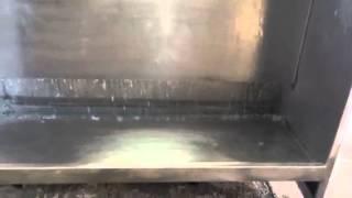 Lackierkabine mit Abschlammungsanlage und 4 Wasserwände
